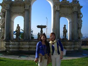 インマコラッテラの泉からの眺望も格別です。