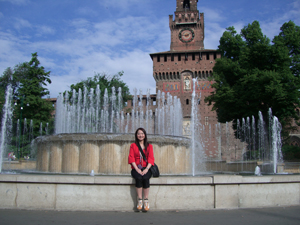 15世紀の君主の居城スフォルツェスコ城